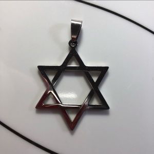 Stainless steel Star of David✡️pendant—FIRM PRICE